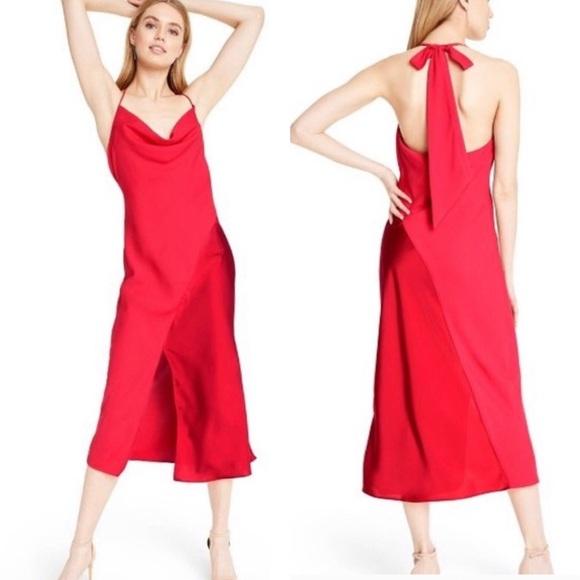 NWT Target CUSHNIE Red Slip Dress